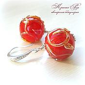 """Украшения handmade. Livemaster - original item Серьги """"Наливные яблочки"""". Handmade."""