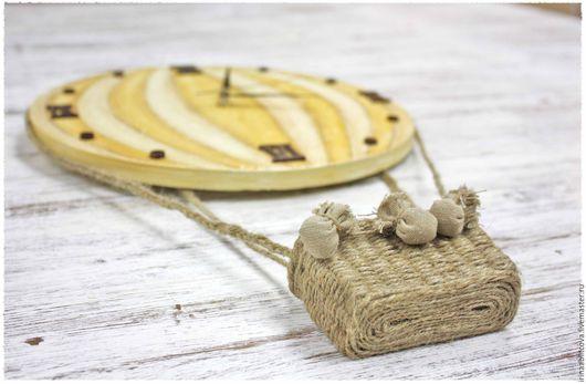 """Часы для дома ручной работы. Ярмарка Мастеров - ручная работа. Купить Часы """"Воздушный шар"""". Handmade. Желтый, часы, полет"""
