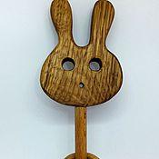 Куклы и игрушки ручной работы. Ярмарка Мастеров - ручная работа Погремушка деревянная Кролик с колечками. Handmade.