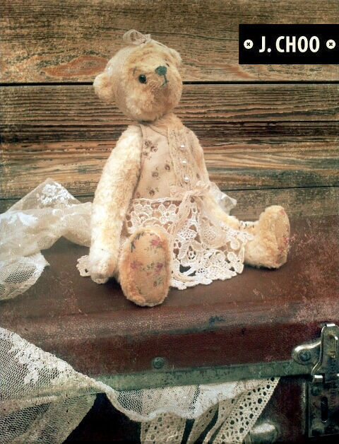 Мишки Тедди ручной работы. Ярмарка Мастеров - ручная работа. Купить Винтажная малышка Виля.. Handmade. Авторские мишки Тедди