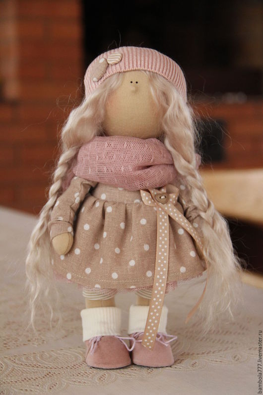 Коллекционные куклы ручной работы. Ярмарка Мастеров - ручная работа. Купить Кукла интерьерная текстильная 26 см. Handmade. Кремовый