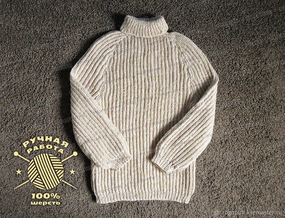 Sweater knitted of 100% sheep wool (No. №230), Mens sweaters, Nalchik,  Фото №1