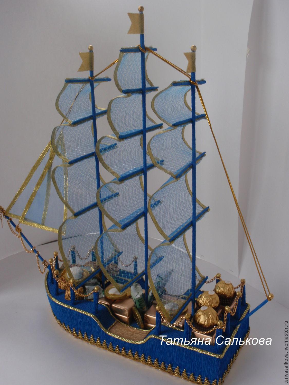 Подарок мужчине корабль оргинальный подарок на 8 марта