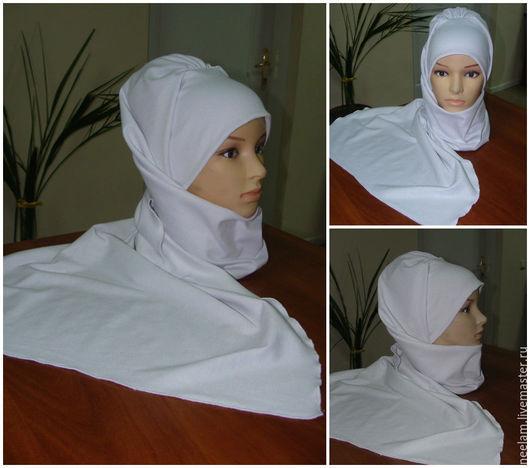 Этническая одежда ручной работы. Ярмарка Мастеров - ручная работа. Купить Стильный теплый головной убор в восточном стиле - белый. Handmade.