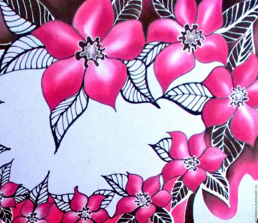 """Шарфы и шарфики ручной работы. Ярмарка Мастеров - ручная работа. Купить косынка """"Весна"""". Handmade. Комбинированный, цветочный узор, девушке"""