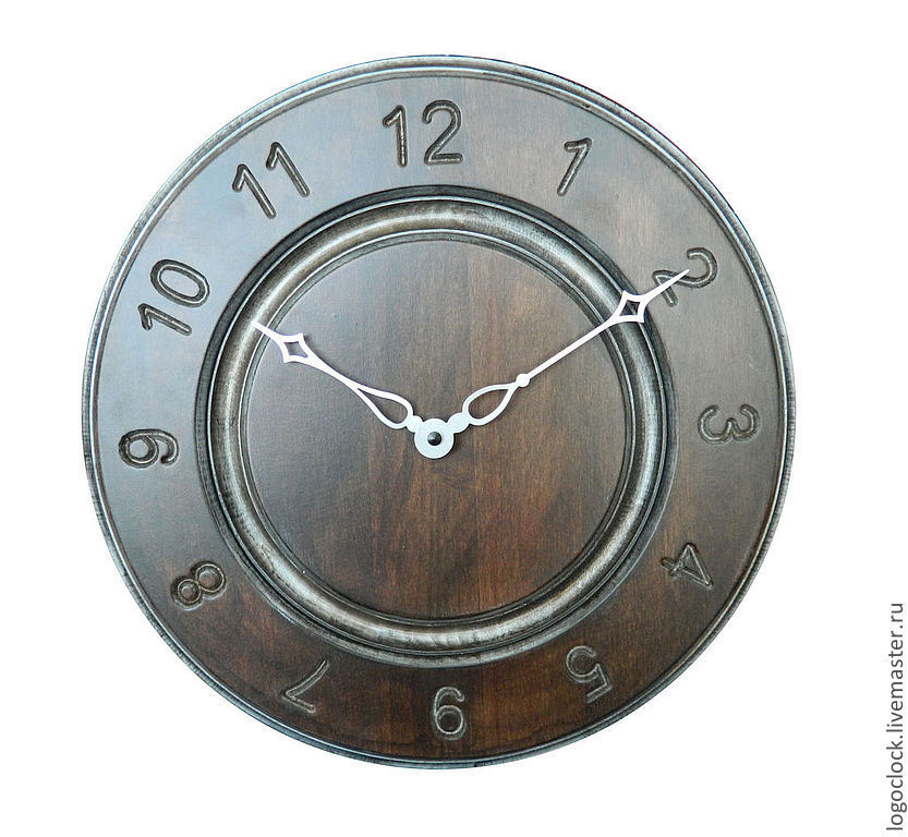 A wall clock. Beech. Old silver. Time, Watch, Moscow,  Фото №1