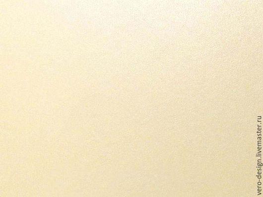 Открытки и скрапбукинг ручной работы. Ярмарка Мастеров - ручная работа. Купить Бумага перламутровая IRIDIUM , слоновая кость, 130 г, 30 Х 30 см. Handmade.