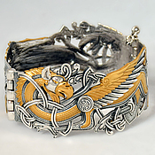 Украшения ручной работы. Ярмарка Мастеров - ручная работа Грифон,браслет серебряный, подарки для мужчин. Handmade.