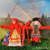 Куклы и игрушки ручной работы. Ярмарка Мастеров - ручная работа Неразлучники, русские народные свадебные куклы, подарок на свадьбу. Handmade.