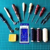 Инструменты для работы с кожей ручной работы. Ярмарка Мастеров - ручная работа Набор инструментов для работы с кожей. Handmade.