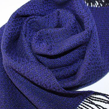 Accessories handmade. Livemaster - original item Woven muffler scarf. The Merino - cotton.. Handmade.