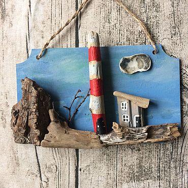Для дома и интерьера ручной работы. Ярмарка Мастеров - ручная работа Маяк на скалистом берегу. Handmade.