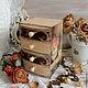 """Мини-комоды ручной работы. Ярмарка Мастеров - ручная работа. Купить Мини-комодик для украшений деревянный """"Цветы Парижа"""". Handmade."""