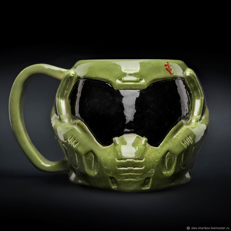 Doom mug. Helmet of Hangman's Rock (Dodgy) Ceramic, for tea and coffee, Mugs and cups, St. Petersburg,  Фото №1