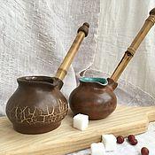 Чайники ручной работы. Ярмарка Мастеров - ручная работа ТУРКА (джезва) для кофе. Handmade.
