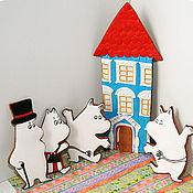 Сувениры и подарки ручной работы. Ярмарка Мастеров - ручная работа Муми-тролли, пряничный набор. Handmade.