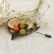 Украшения handmade. Livemaster - original item Brooch-needle with agate and chrysoprase, natural stones. Handmade.