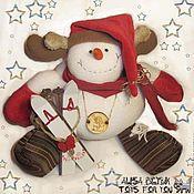 Подарки к праздникам ручной работы. Ярмарка Мастеров - ручная работа Снеговик Лосик. Handmade.