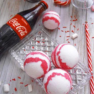 """Косметика ручной работы. Ярмарка Мастеров - ручная работа """"Coca cola"""" Бомбочка для ванны. Handmade."""