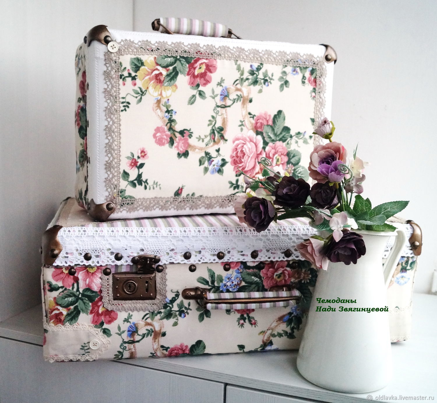 Suitcases for interior: duet ' Provence', Suitcase, Petrozavodsk,  Фото №1