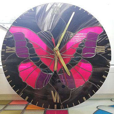 """Для дома и интерьера ручной работы. Ярмарка Мастеров - ручная работа Часы: """"Бабочка"""". Handmade."""