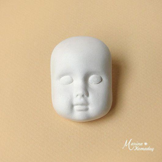 Куклы и игрушки ручной работы. Ярмарка Мастеров - ручная работа. Купить Личико № 8. Handmade. Белый, личико для теддидолл