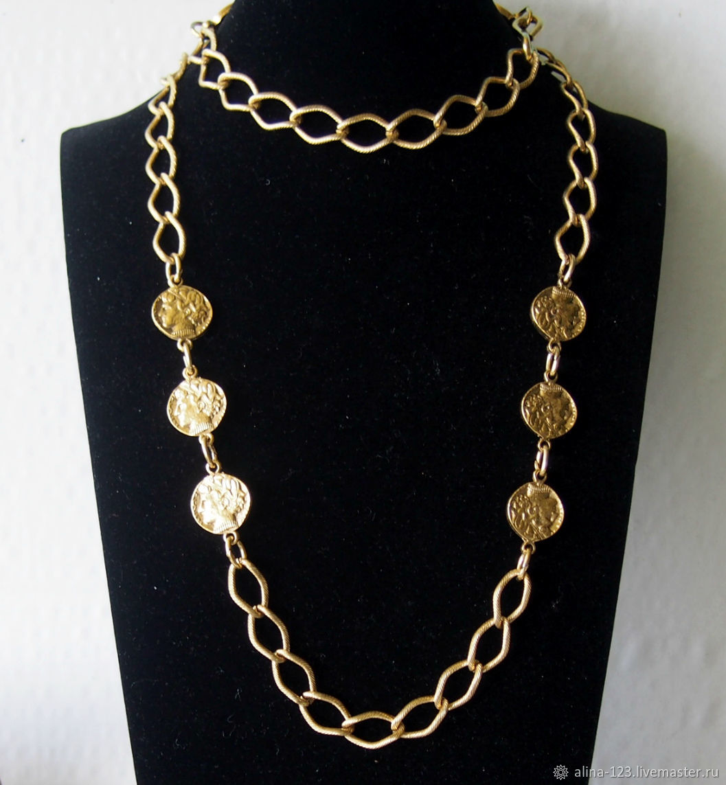 Necklace with coins from Trifari, Vintage necklace, Obninsk,  Фото №1
