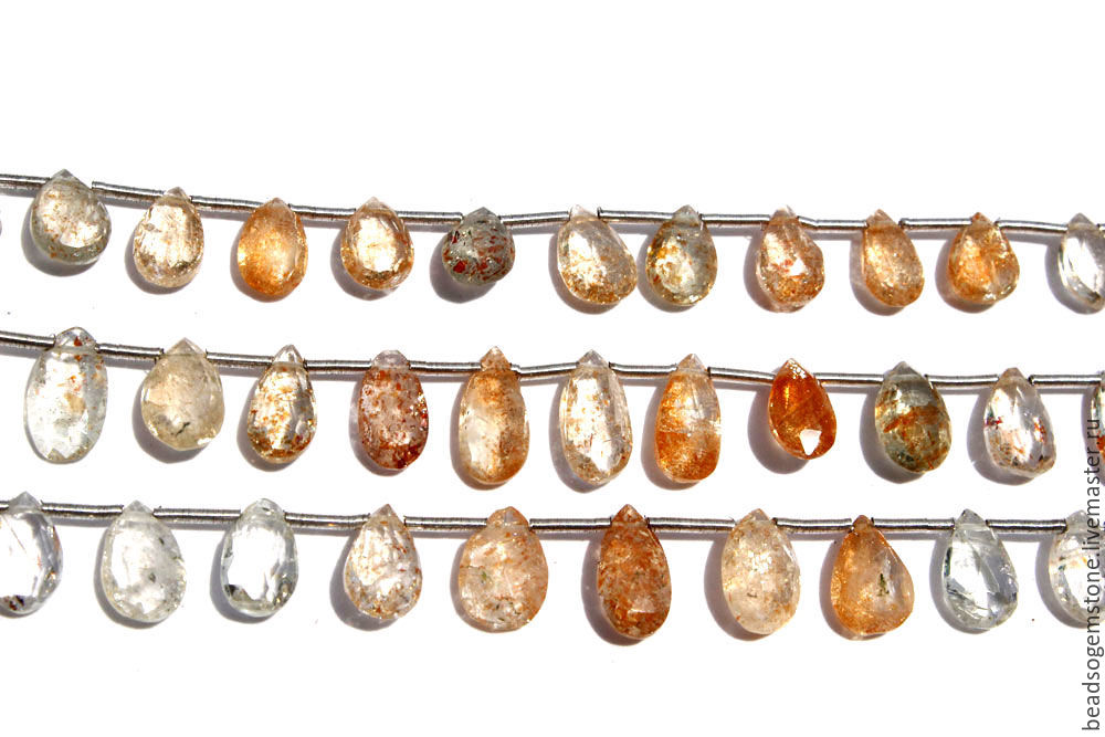 Masai Sunstone Faceted Pear (Quality AAA) / SUN-001, Beads1, Moscow,  Фото №1