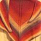 Шали, палантины ручной работы. Заказать Шаль Осень (датская шаль традиционная). Домовенок. Ярмарка Мастеров. Дача, теплый