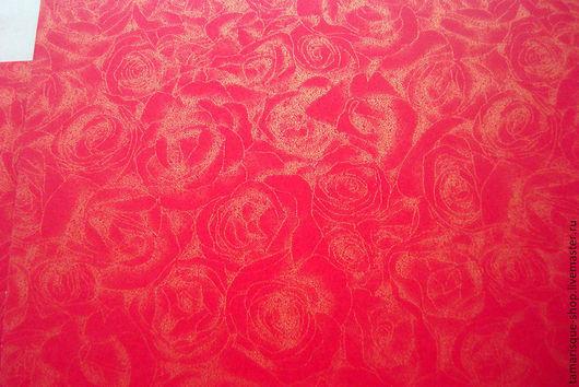 Открытки и скрапбукинг ручной работы. Ярмарка Мастеров - ручная работа. Купить Дизайнерская бумага «Розы» 300 гр, 3 цвета. Handmade.