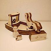 Техника, роботы, транспорт ручной работы. Ярмарка Мастеров - ручная работа Кораблик маленький с магнитным краном. Handmade.