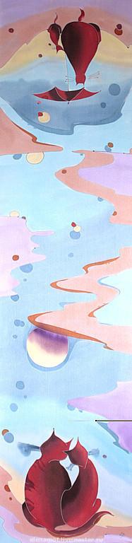 Шарфы и шарфики ручной работы. Ярмарка Мастеров - ручная работа. Купить Шарф Лето. Handmade. Шелковый шарф, Батик