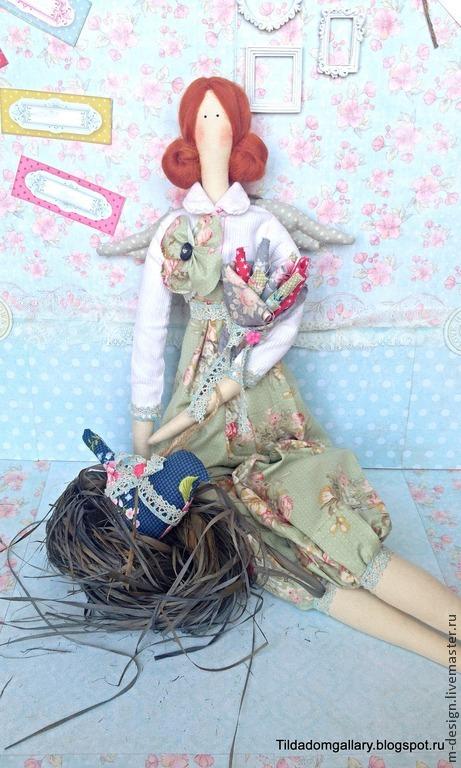 Angel 'Tilde' Blue bird (sold/is sold), Tilda Toys, Rostov-on-Don,  Фото №1