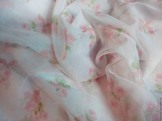 Текстиль, ковры ручной работы. Ярмарка Мастеров - ручная работа. Купить Легкая, прозрачная штора из вуали в стиле Прованс. Handmade.