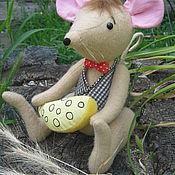 Куклы и игрушки ручной работы. Ярмарка Мастеров - ручная работа Крысенок с сыром. Handmade.