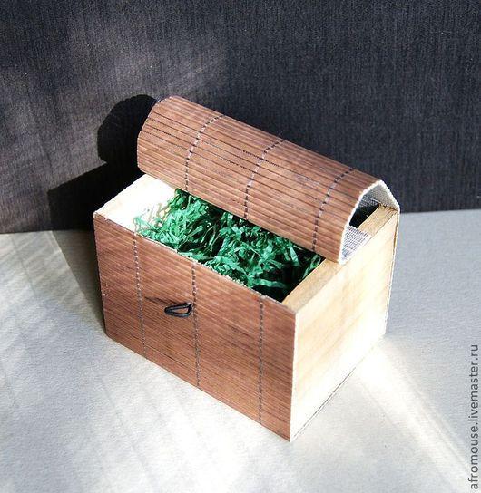 """Упаковка ручной работы. Ярмарка Мастеров - ручная работа. Купить коробочка для упаковки """"Бамбук 22 """" 100х75х75мм коричневая. Handmade."""