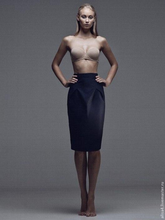 Юбки ручной работы. Ярмарка Мастеров - ручная работа. Купить юбка. Handmade. Тёмно-синий, однотонный, костюмная ткань