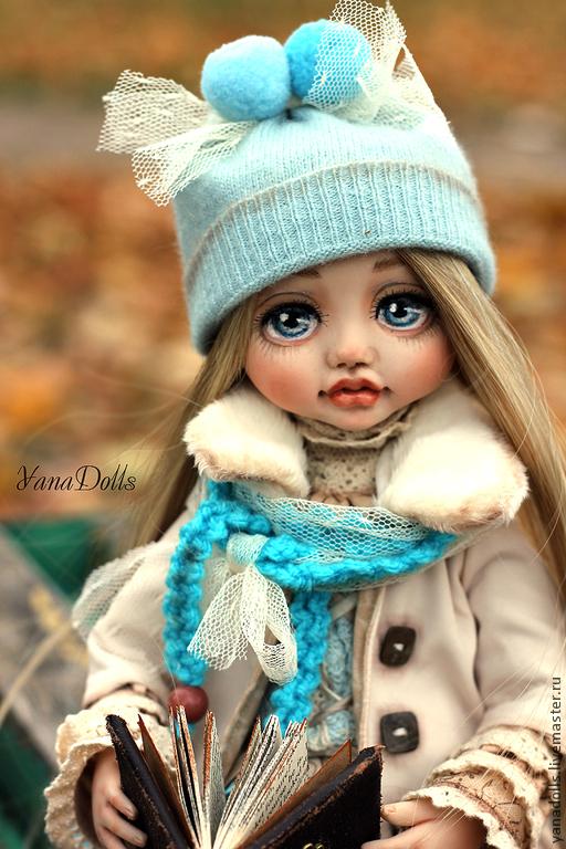 Коллекционные куклы ручной работы. Ярмарка Мастеров - ручная работа. Купить Стася. Handmade. Бирюзовый, авторская кукла, хлопок