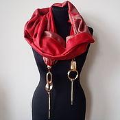 Аксессуары handmade. Livemaster - original item Scarf with pendants 551 pashmina. Handmade.