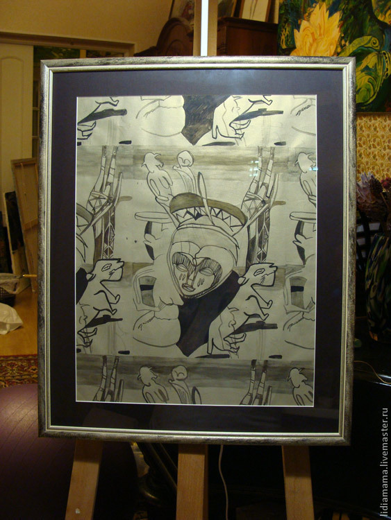 African rhythms the artwork by Olga Petrovskaya-Petovraji