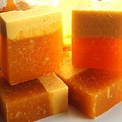 Мыло ручной работы. Ярмарка Мастеров - ручная работа Мед и молоко натуральное деревенское мыло. Handmade.