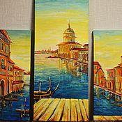 """Картины и панно ручной работы. Ярмарка Мастеров - ручная работа Модульная картина """"Венеция"""". Handmade."""