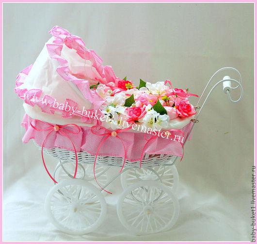 """Подарки для новорожденных, ручной работы. Ярмарка Мастеров - ручная работа. Купить Букет из детской одежды (бэби-букет) """"Розовая песенка"""". Handmade."""