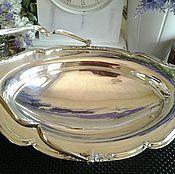 Винтаж ручной работы. Ярмарка Мастеров - ручная работа -10% MH& Co Редкая антикварная ваза 1930-е Aнглия серебряное покрытие. Handmade.
