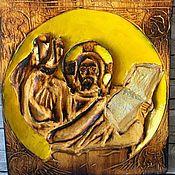 Картины и панно ручной работы. Ярмарка Мастеров - ручная работа Резная икона. Handmade.