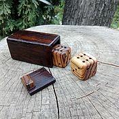 Сувениры и подарки handmade. Livemaster - original item Box with dice. Handmade.