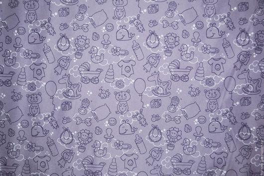 Шитье ручной работы. Ярмарка Мастеров - ручная работа. Купить Курточная ткань Дюспо Baby Boom, плащевка. Handmade. Сиреневый