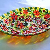 """Посуда ручной работы. Ярмарка Мастеров - ручная работа Комплект посуды """"Ах, лето!"""", стекло. Handmade."""