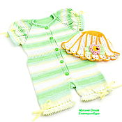 Работы для детей, handmade. Livemaster - original item A summer stint with hat for baby girl