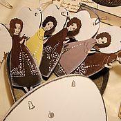 Подарки к праздникам ручной работы. Ярмарка Мастеров - ручная работа Набор из 5 золотых ангелов + коробочка. Handmade.